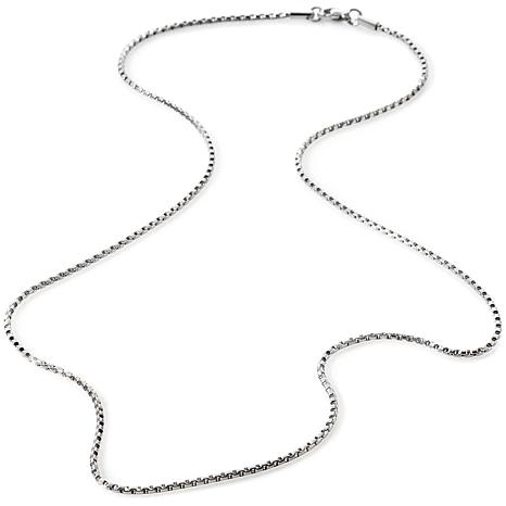 """Stately Steel 1.8mm Box-Link 18"""" Chain Necklace"""