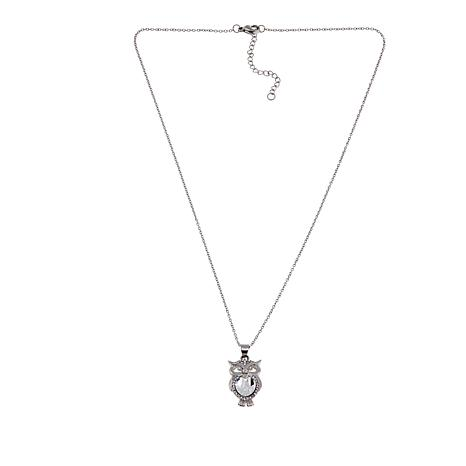 """Stately Steel Crystal Critter Pendant 18"""" Necklace"""