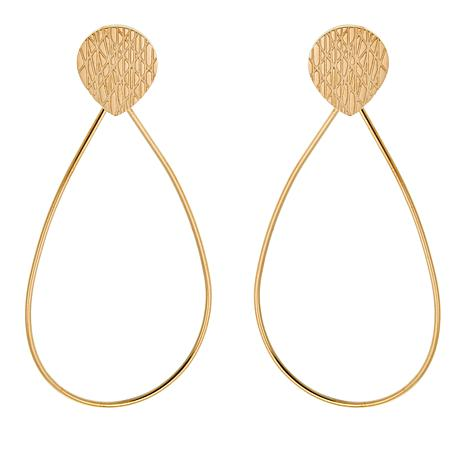 Stately Steel Pear-Shaped Drop Earrings