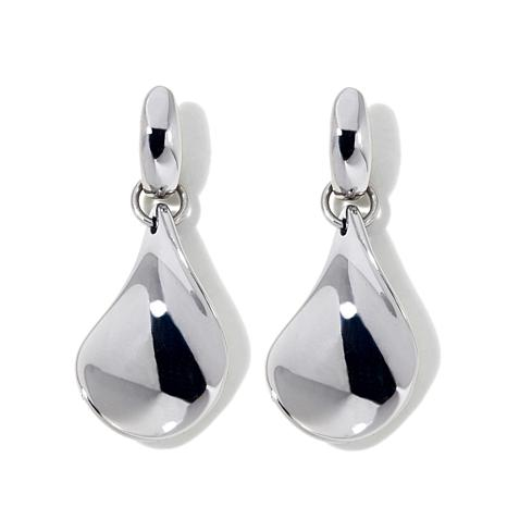 Stately Steel Teardrop Stainless Steel Earrings