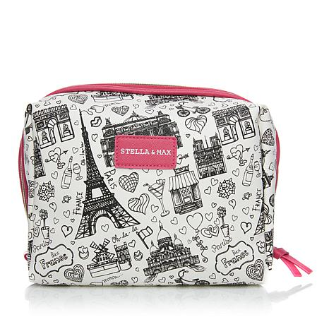 Stella & Max Paris Print Jewelry Travel Organizer