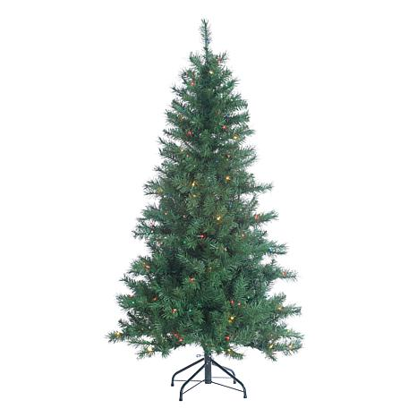 Sterling 5' Multicolor Lighted Colorado Spruce Tree
