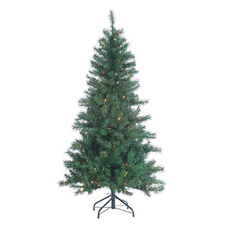 Sterling 5' Multicolor Lighted Colorado Spruce Tree