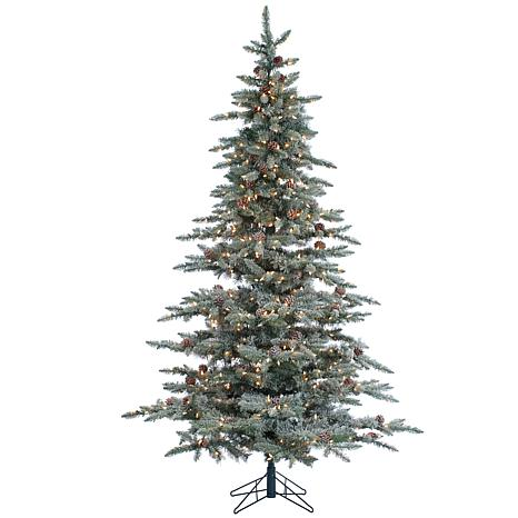 Sterling 7-1/2' Lightly Flocked Lighted Christmas Tree