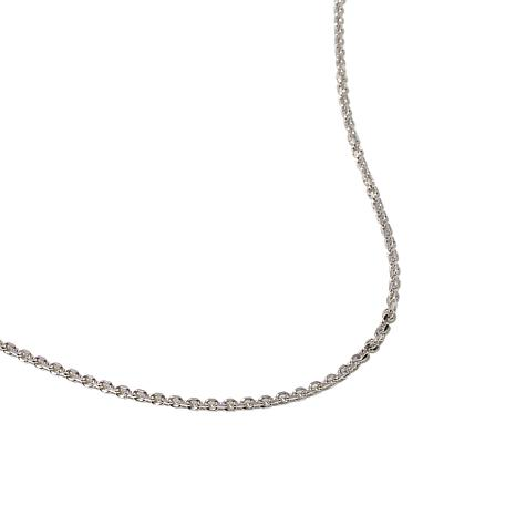 "Sterling Silver Adjustable 1mm Cable-Link 22"" Chain"