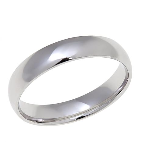 Sterling Silver High-Polished 4mm Wedding Band