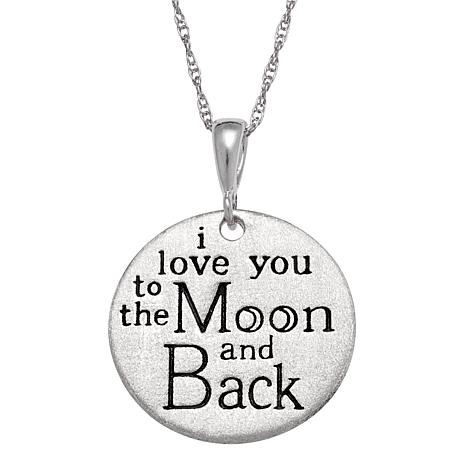 Sterling Silver Inspirational Love Engraved Pendant wit