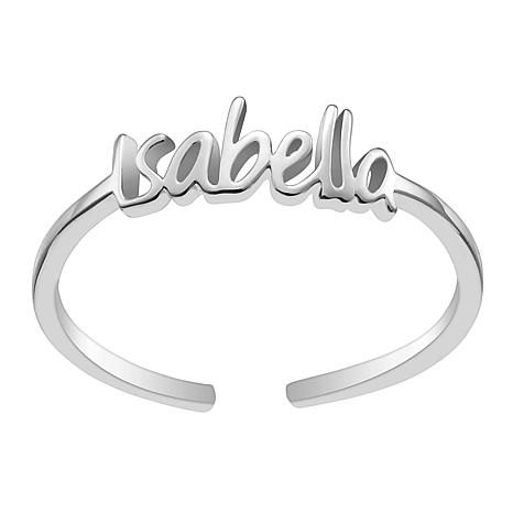Sterling Silver Petite Name Ring