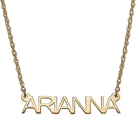 Sterling Silver Petite Uppercase Block Name Necklace