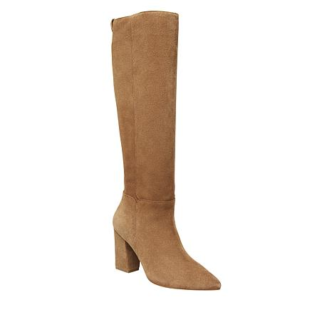 Steve Madden Raddle Suede Pointed-Toe Tall Boot