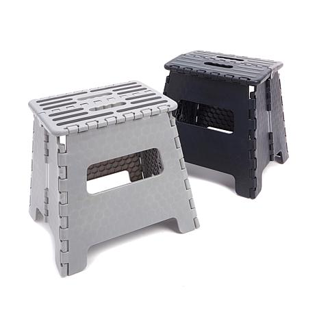 storesmith 2pack folding step stools extra wide - Step Stool