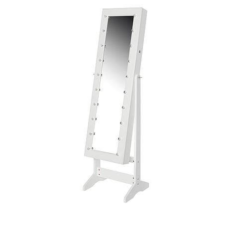 Storesmith Freestanding Jewelry Armoire With Led Marquee 9231875 Hsn