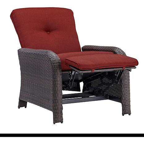 ... Strathmere Outdoor Reclining Arm Chair   Crimson Red ...