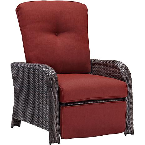 Strathmere Outdoor Reclining Arm Chair   Crimson Red