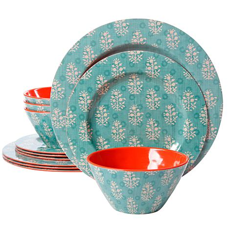 Studio California Solina 12-piece Melamine Dinnerware Set