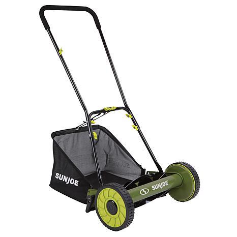 """Sun Joe 16"""" Manual Reel Mower with Grass Catcher"""