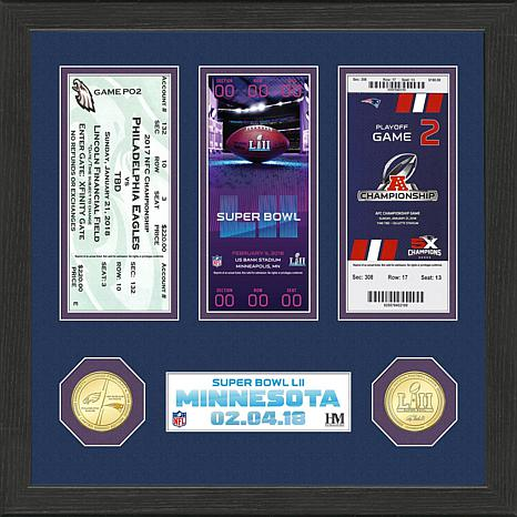 Super Bowl LII Signature Ticket in Display Frame by the Highland Mi...