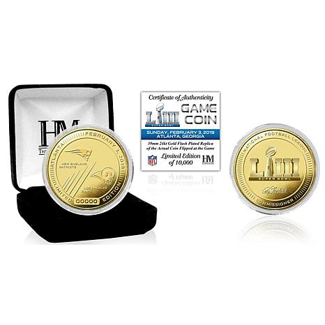 Super Bowl LIII Officially Licensed Gold Flip Coin - The Highland Mint