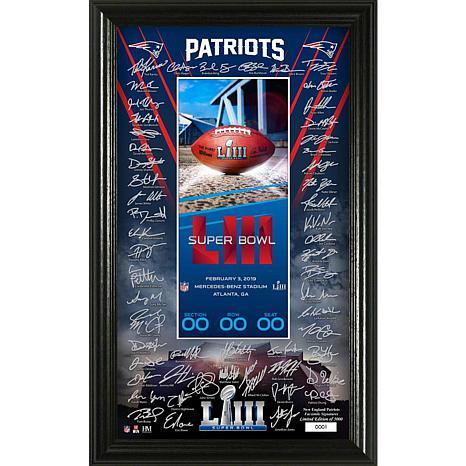 Super Bowl LIII Replica Signature Ticket  - New England Patriots