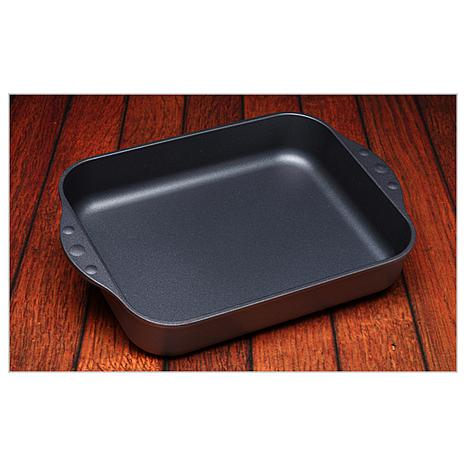 swiss diamond nonstick large roasting pan 7467721 hsn. Black Bedroom Furniture Sets. Home Design Ideas