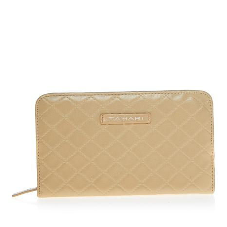 Tahari Quilted Jewelry Travel Wallet - Gold Color