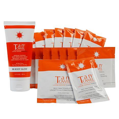 TanTowel® Classic Self Tanning Kit with Body Glow BB Cream Auto-Ship®