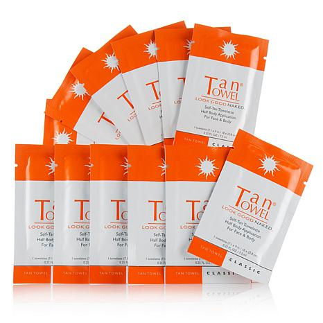 TanTowel® Half-Body Classic Towelettes - 12-pack AS