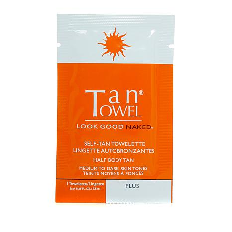 TanTowel® Half-Body Plus Towelette