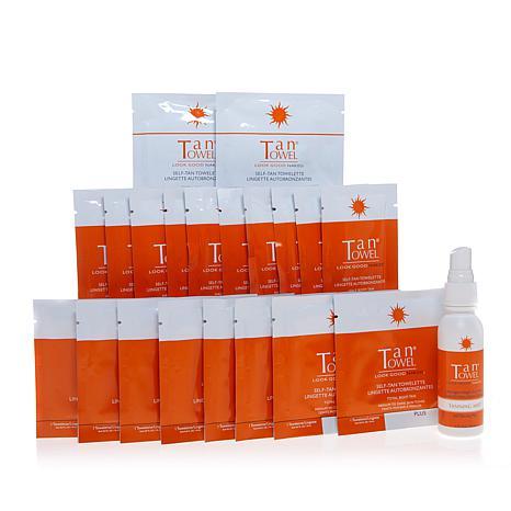 TanTowel® Self-Tanning Plus 20-piece Kit AS