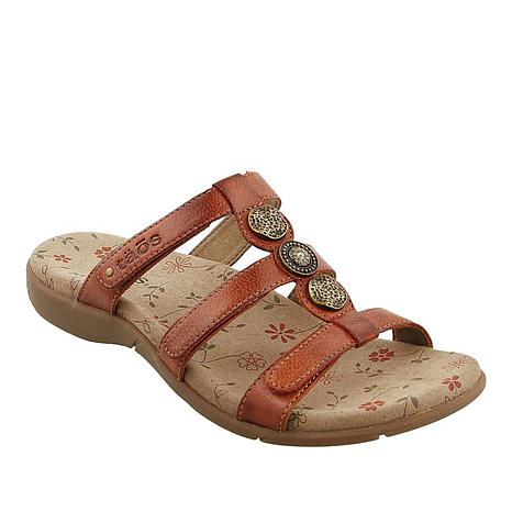 bd5769a515c Taos Footwear Prize 3 Leather Slide Sandal - 8678014