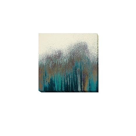 """Teal Woods"" Gallery-Wrapped Canvas Art"
