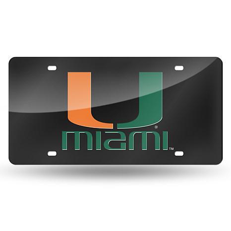 Team Colored Laser Tag License Plate-Un. of Miami