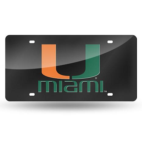Team Colored Laser Tag License Plate - University of Mi