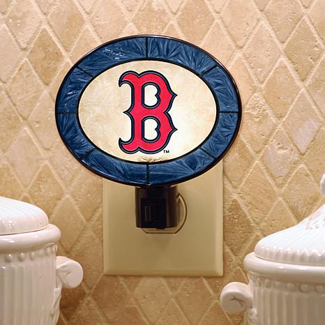 Team Glass Nightlight - Boston Red Sox