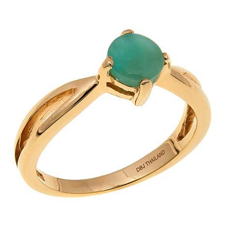 Technibond® 0.80ctw Emerald Birthstone Ring