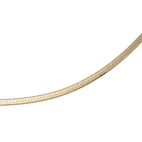 "Technibond® 2-Sided Double-Herringbone 24"" Necklace"