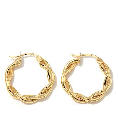 Technibond 20mm Small Twisted Hoop Earrings