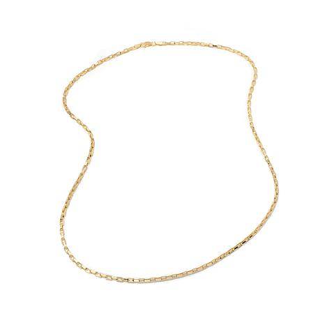 "Technibond® 2.6mm Rectangular Box Chain 18"" Necklace"