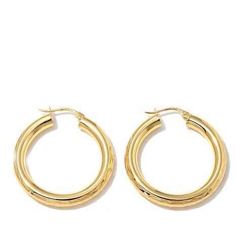 Technibond® 29mm Medium Diamond-Cut Hoop Earrings