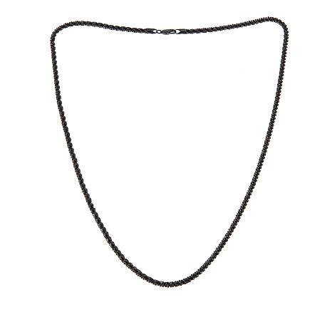 "Technibond® 30"" Bold Glitter Rope Chain - Black"