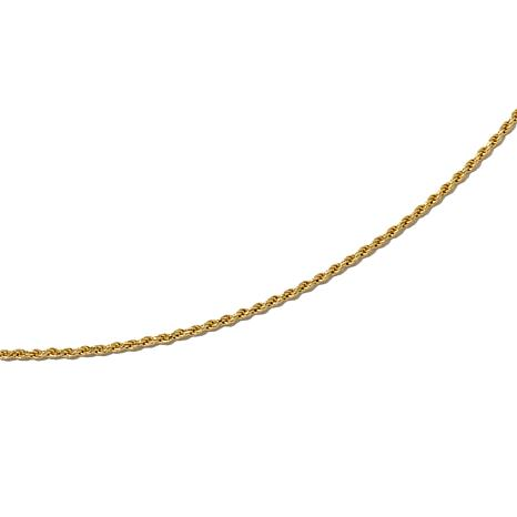 """Technibond® Adjustable Rope-Link 24"""" Chain Necklace"""