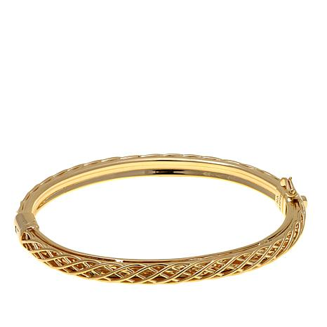 "Technibond® Diamond-Cut ""Cage"" Bangle Bracelet"