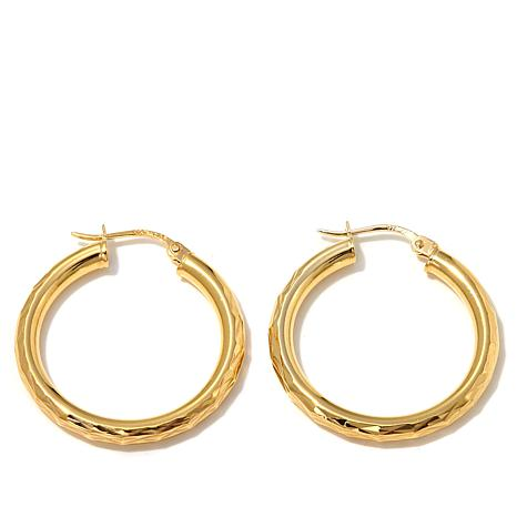 Technibond® Diamond-Cut Hoop Earrings