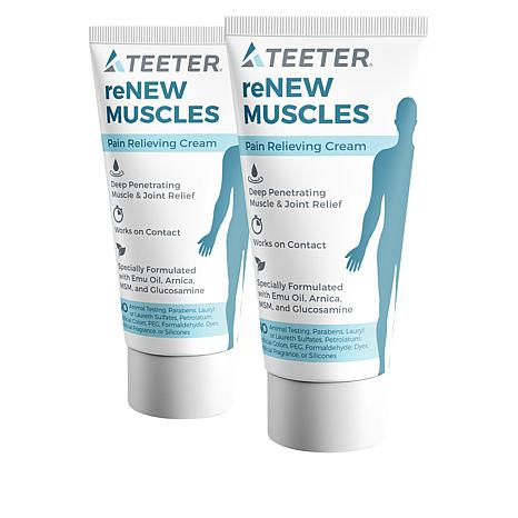 Teeter Renew Muscles Pain Relieving Cream 2-pack