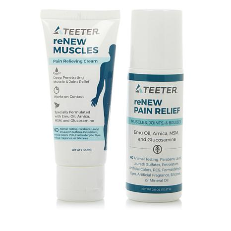 Teeter Renew Muscles Pain Relieving Cream and Roll-On