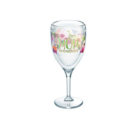 Tervis Mom Watercolor Floral 9 oz. Wine Glass