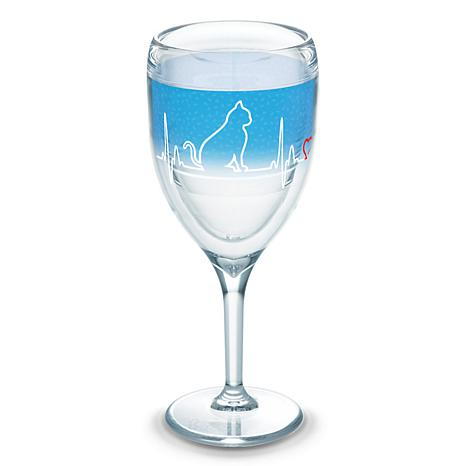 Tervis Project Paws Cat Heartbeat 9 oz Wine Glass