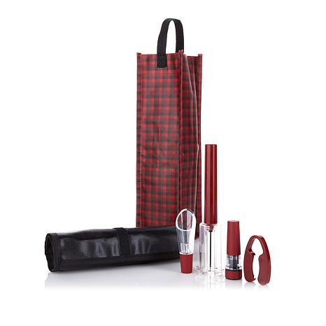 The Perfect Wine Opener 6-piece Gift Set with Wine Bag