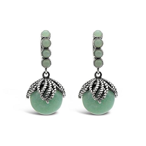 Tiffany Kay Studio Sterling Silver Aventurine Bead Dangle Earrings