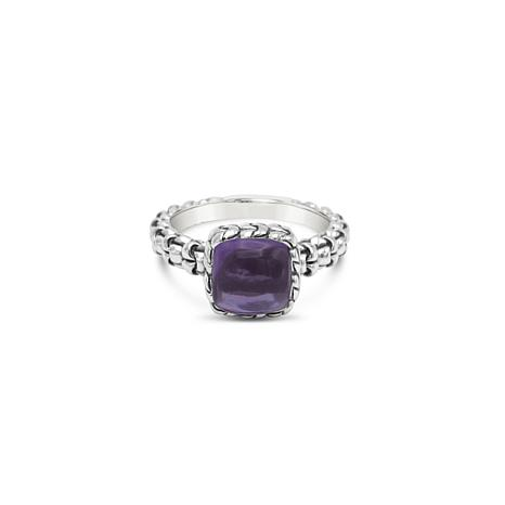 Tiffany Kay Studio Sterling Silver Purl Knit Amethyst Ring
